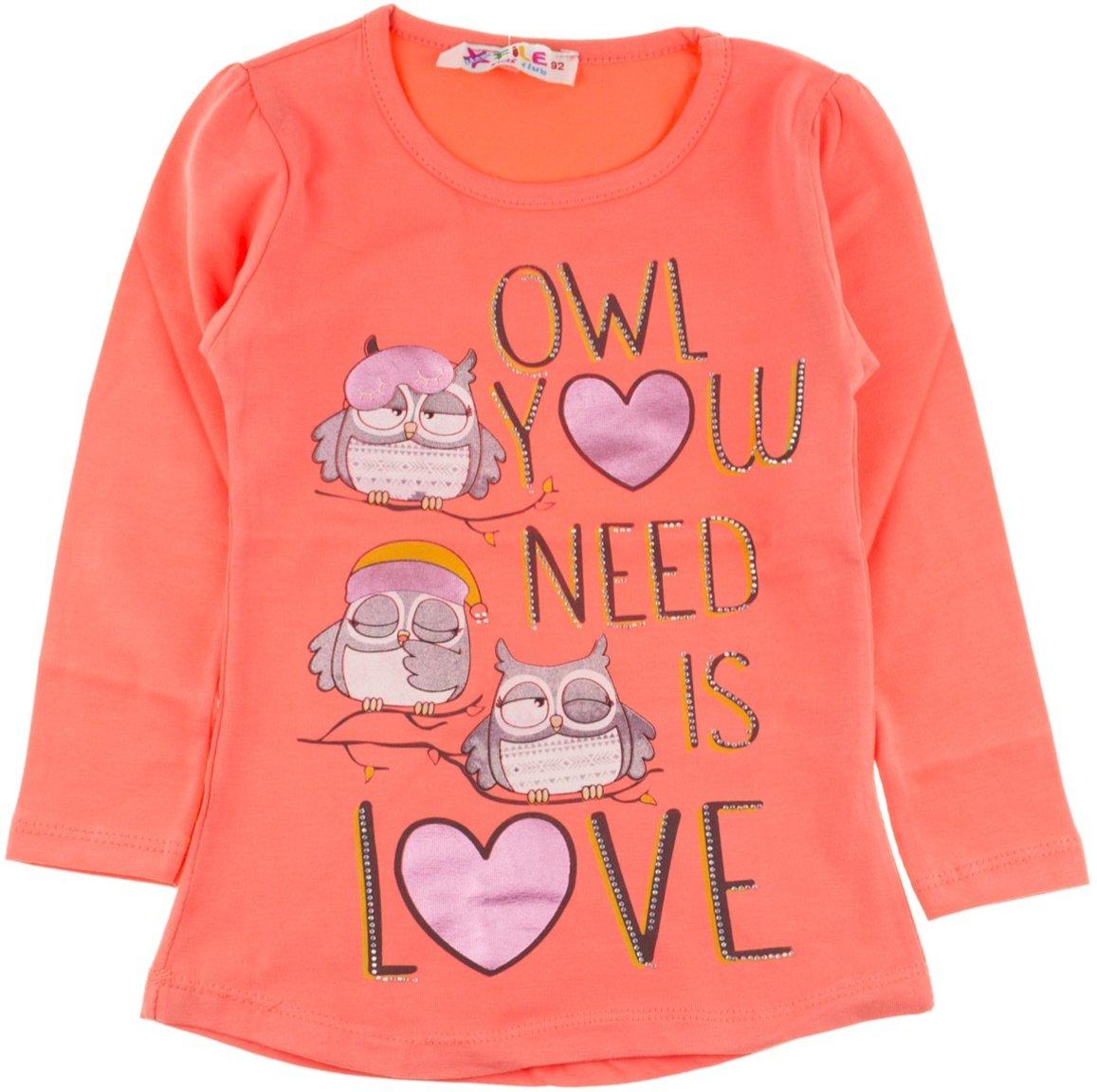 Star File παιδική εποχιακή μπλούζα «Orange Owl»