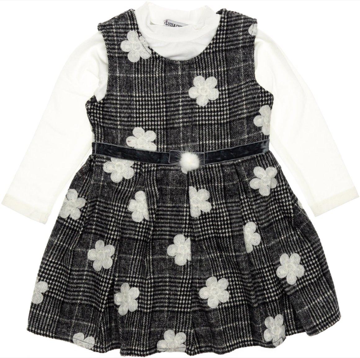 Luisa Chic παιδικό σετ φόρεμα-μπλούζα «Wool and Daisies»