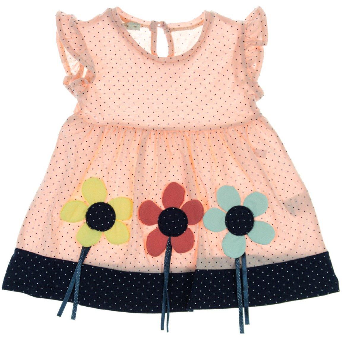 Via Girls παιδικό φόρεμα «Big Pink Flowers»