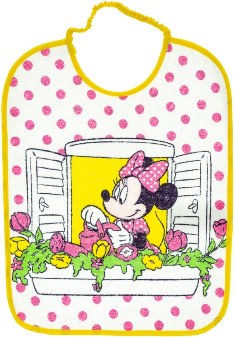Disney βρεφική σαλιάρα φαγητού «Minnie's Yellow Balcony»