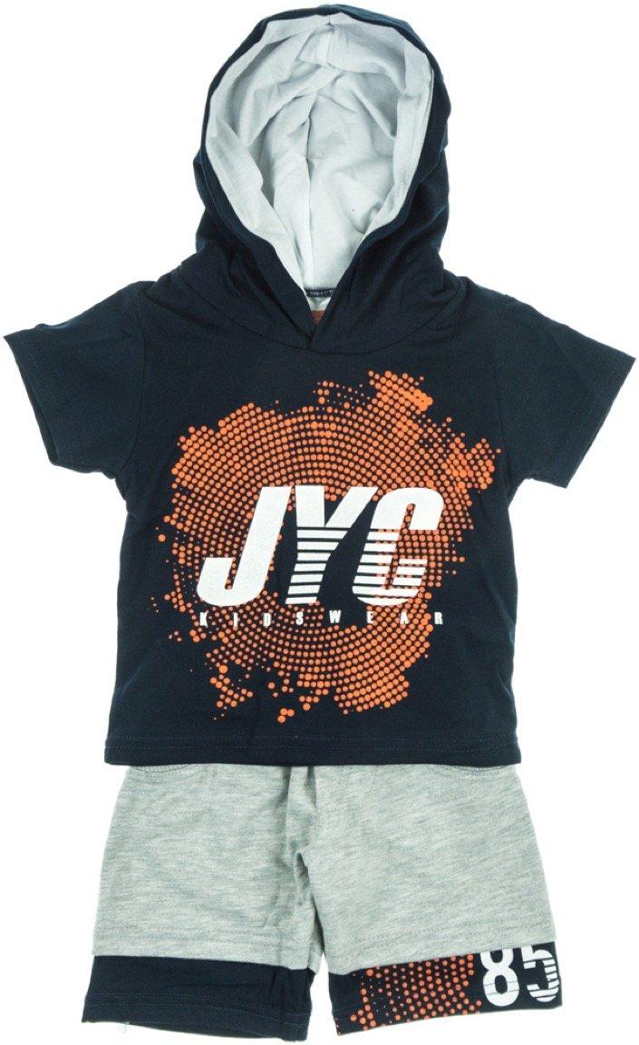 Joyce παιδικό σετ μπλούζα-παντελόνι βερμούδα «Blue Target»