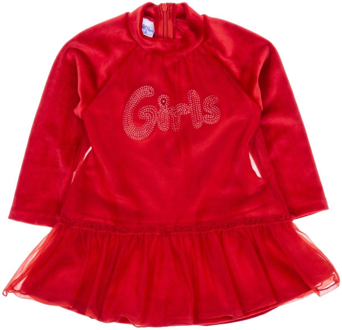 All Stars παιδικό βελουτέ φόρεμα «Frilled»