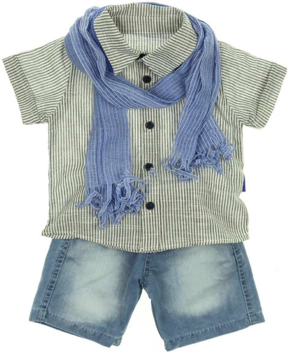 R.T.M. παιδικό σετ πουκάμισο-παντελόνι «Chic Denim»
