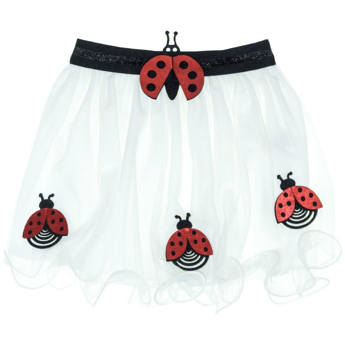 Mini Citlenbik παιδική φούστα τουτου «White Ladybug»