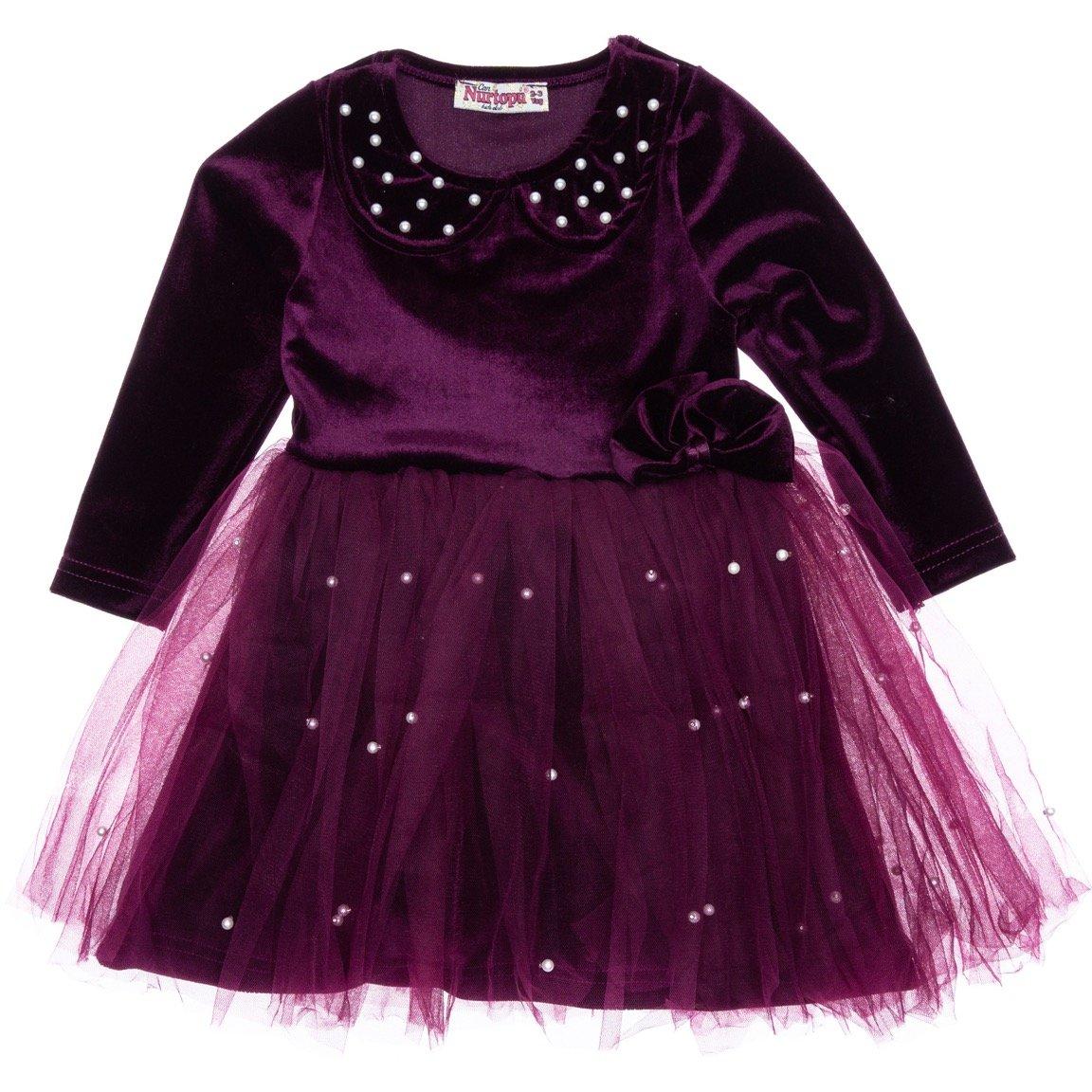 Nurtopu παιδικό αμπιγιέ βελουτέ φόρεμα «Pearl Velour»