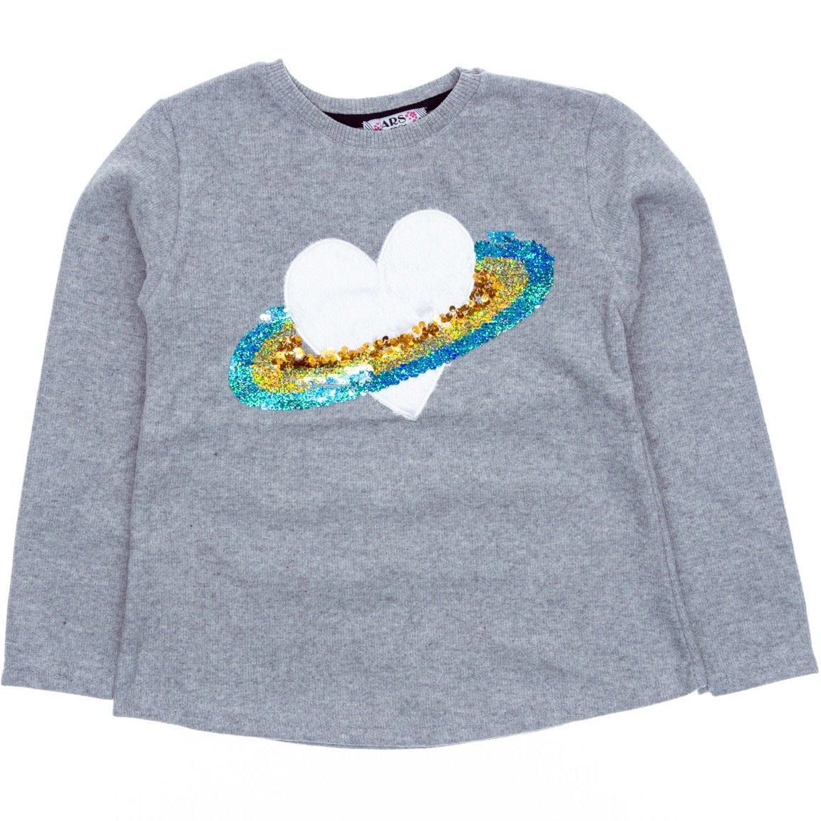 ARS παιδική μπλούζα «Grey Planet Heart»