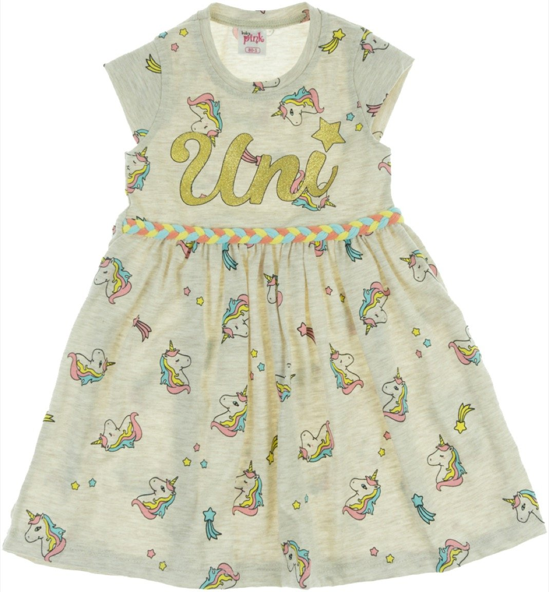 Baby Pink παιδικό φόρεμα «Grey Uni»