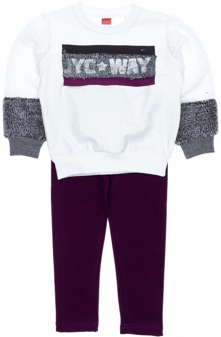 Joyce παιδικό σετ μπλούζα-παντελόνι κολάν «One Way»