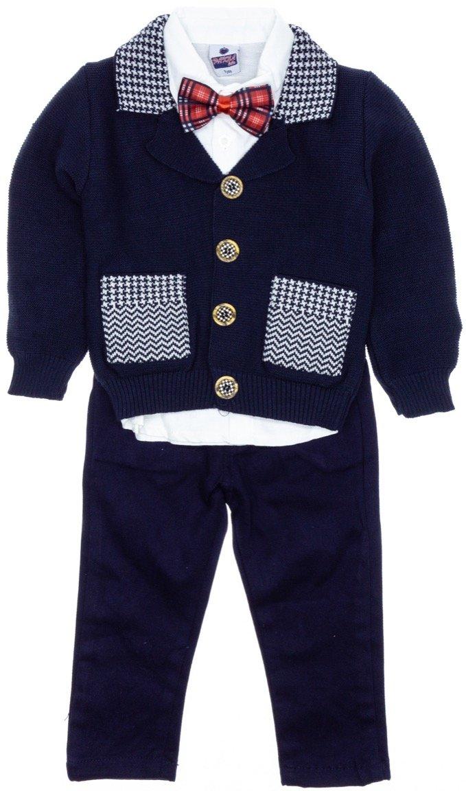 Pakel παιδικό αμπιγιέ σετ ζακέτα, πουκάμισο, παντελόνι «Papigion»