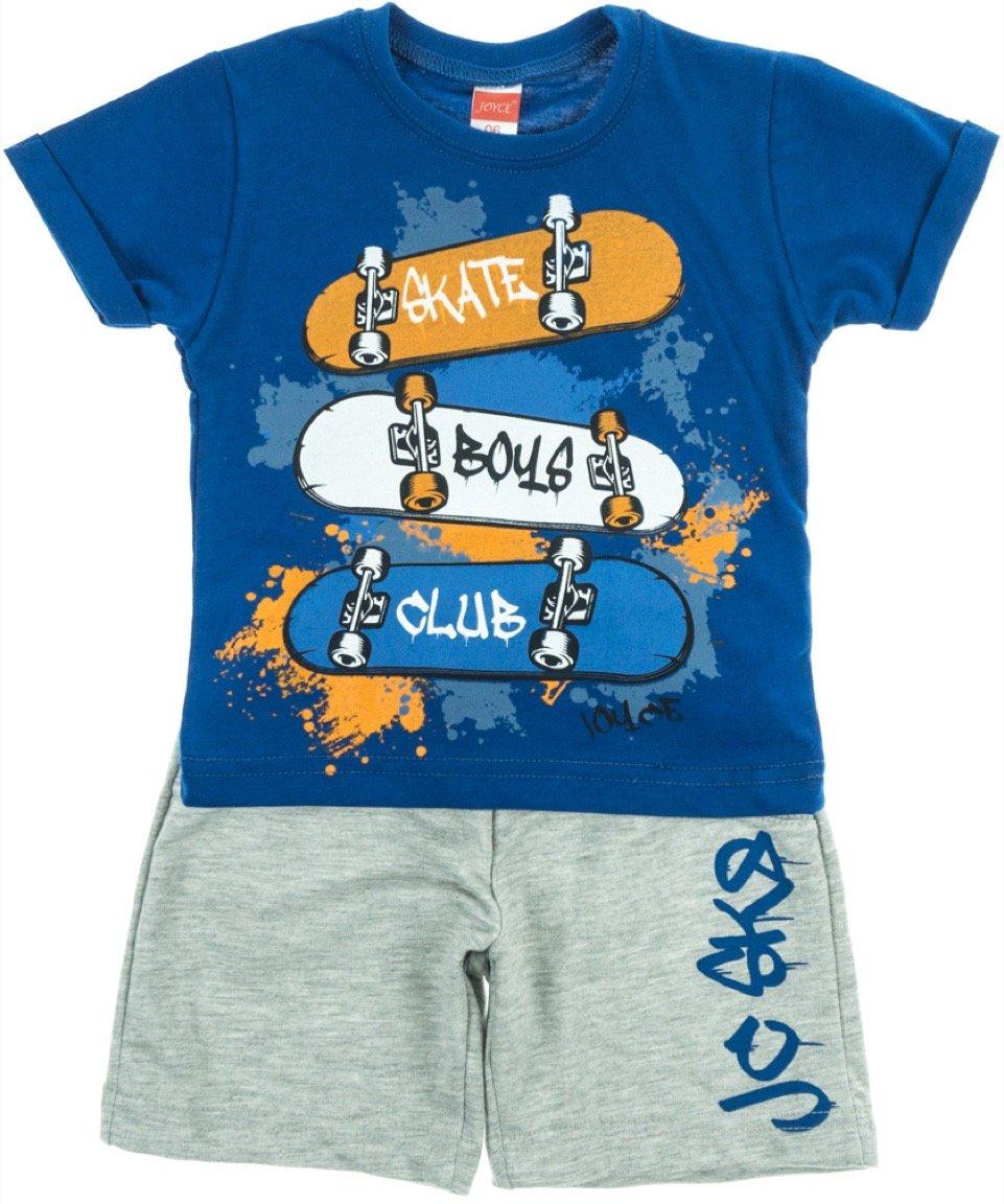 Joyce παιδικό σετ μπλούζα-παντελόνι βερμούδα «Skate Club»
