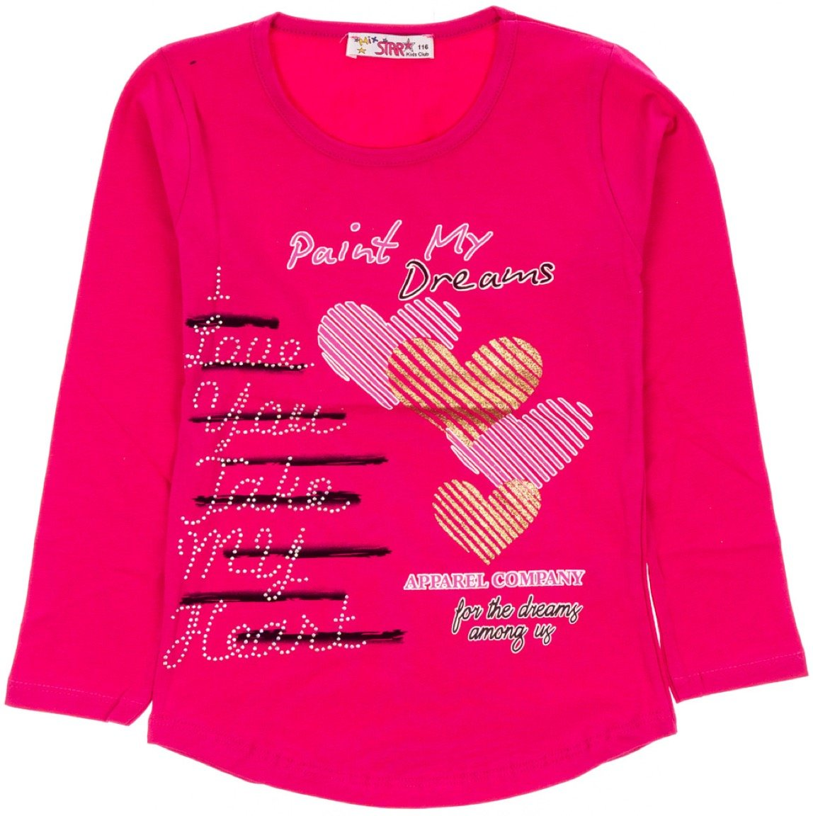 Mix Star παιδική εποχιακή μπλούζα «Paint My Dreams Fuchsia»