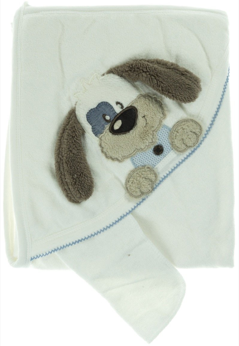 Babyline βρεφική μπουρνουζοπετσέτα & πανάκι μπάνιου «Dog»