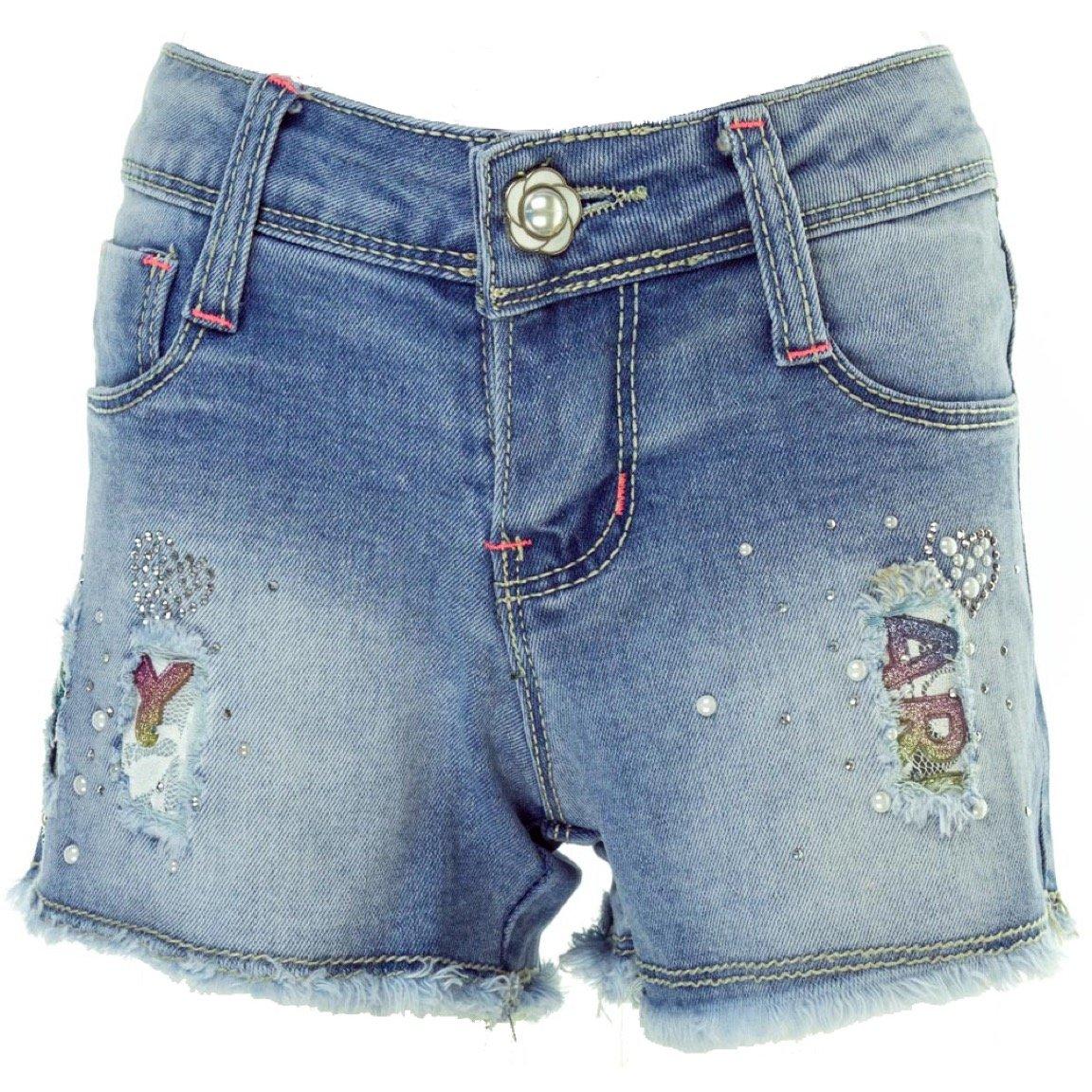 Ativo παιδικό παντελόνι τζιν σορτς «Strass Denim»
