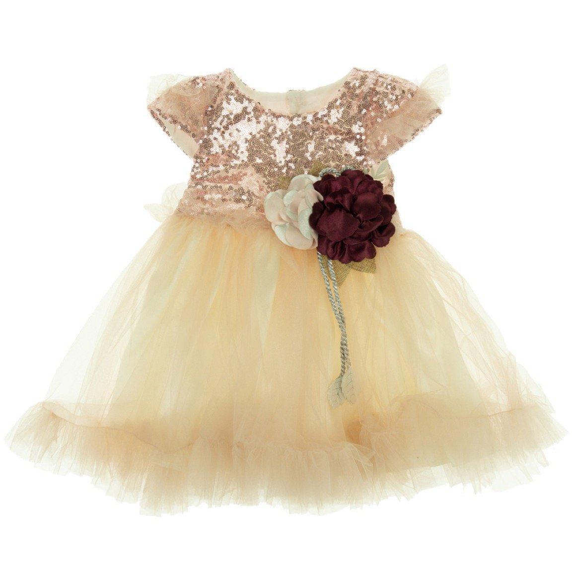 Blueberry's παιδικό αμπιγιέ φόρεμα «Pink Grace»