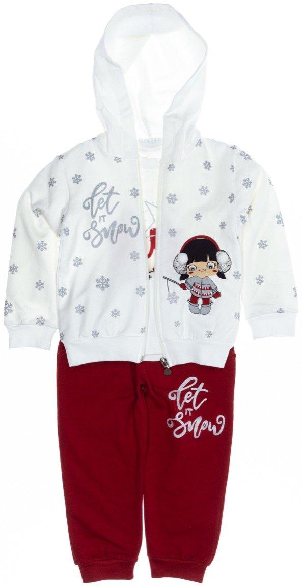 Εβίτα παιδικό σετ ζακέτα-μπλούζα-παντελόνι «Hey»