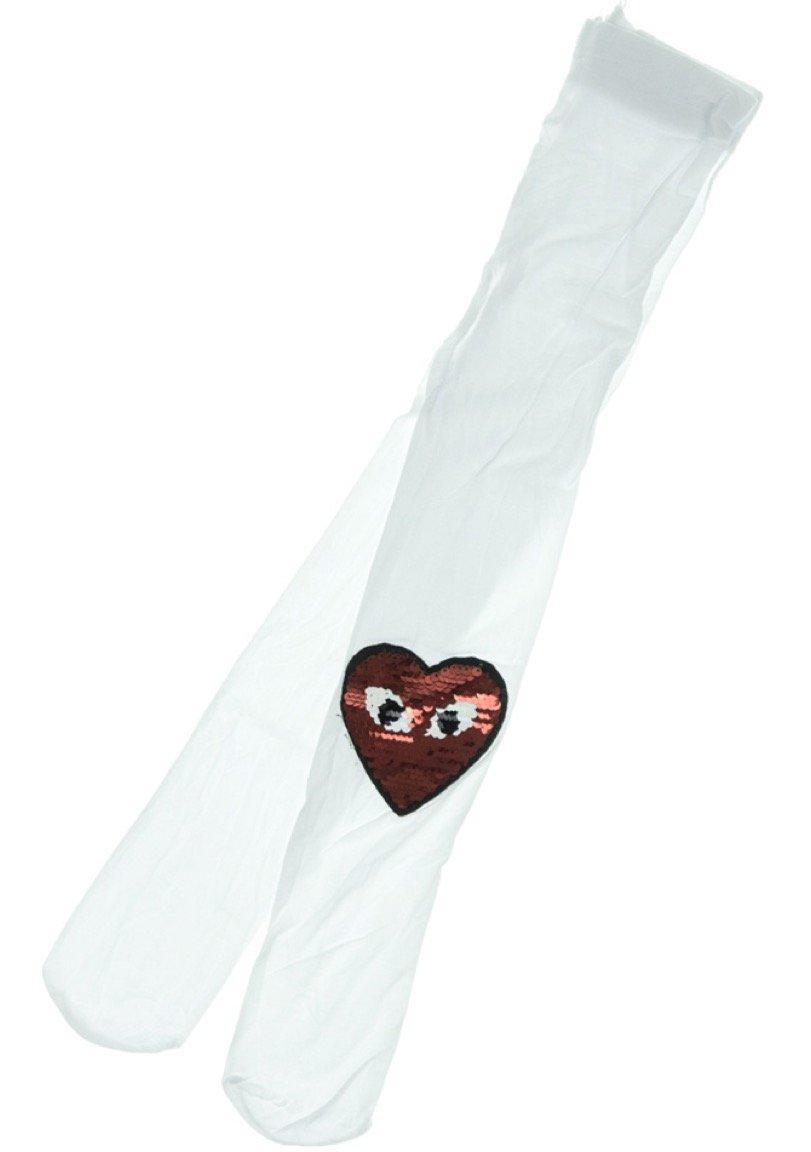 Bella Calze παιδικό καλσόν «White Red Heart»