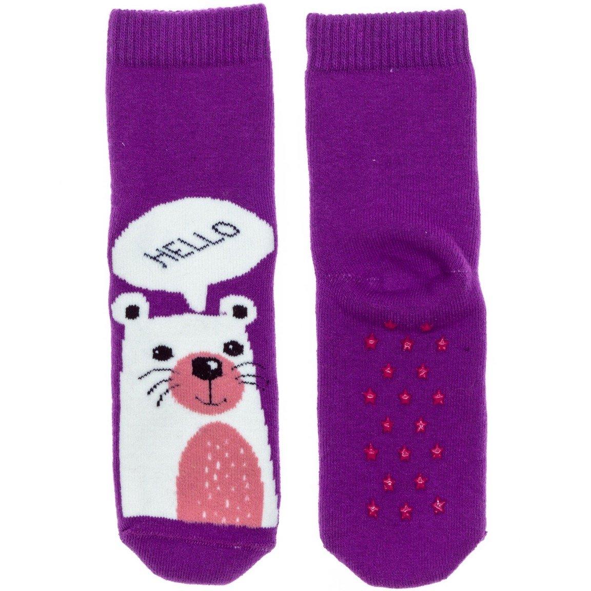 Bross παιδικές αντιολισθητικές κάλτσες «Hello Bear»