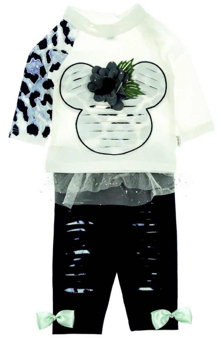 Jikko βρεφικό εποχιακό σετ μπλούζα-παντελόνι «My Little Mouse»