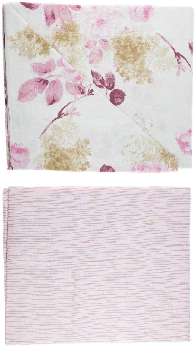 Linea Oro σεντόνια σετ τριών τεμαχίων για μονό κρεβάτι «Roses»