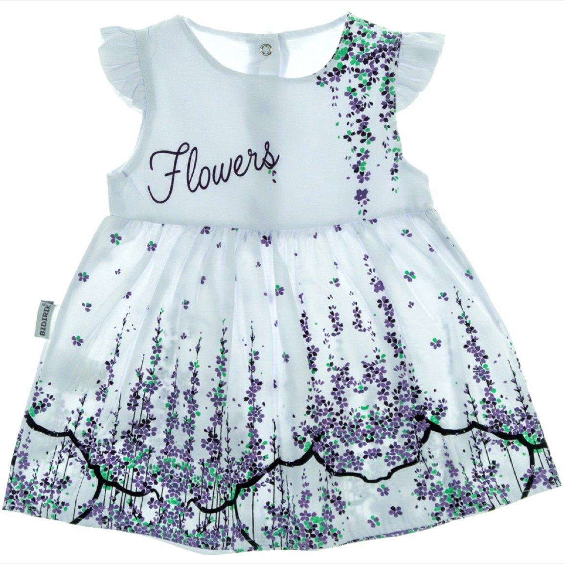 Bidirik βρεφικό φόρεμα «Purple Flowers»
