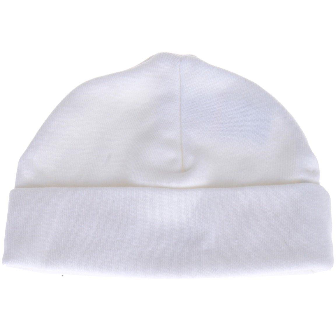 AZ βρεφικό σκουφάκι νεογνού «White Cap»