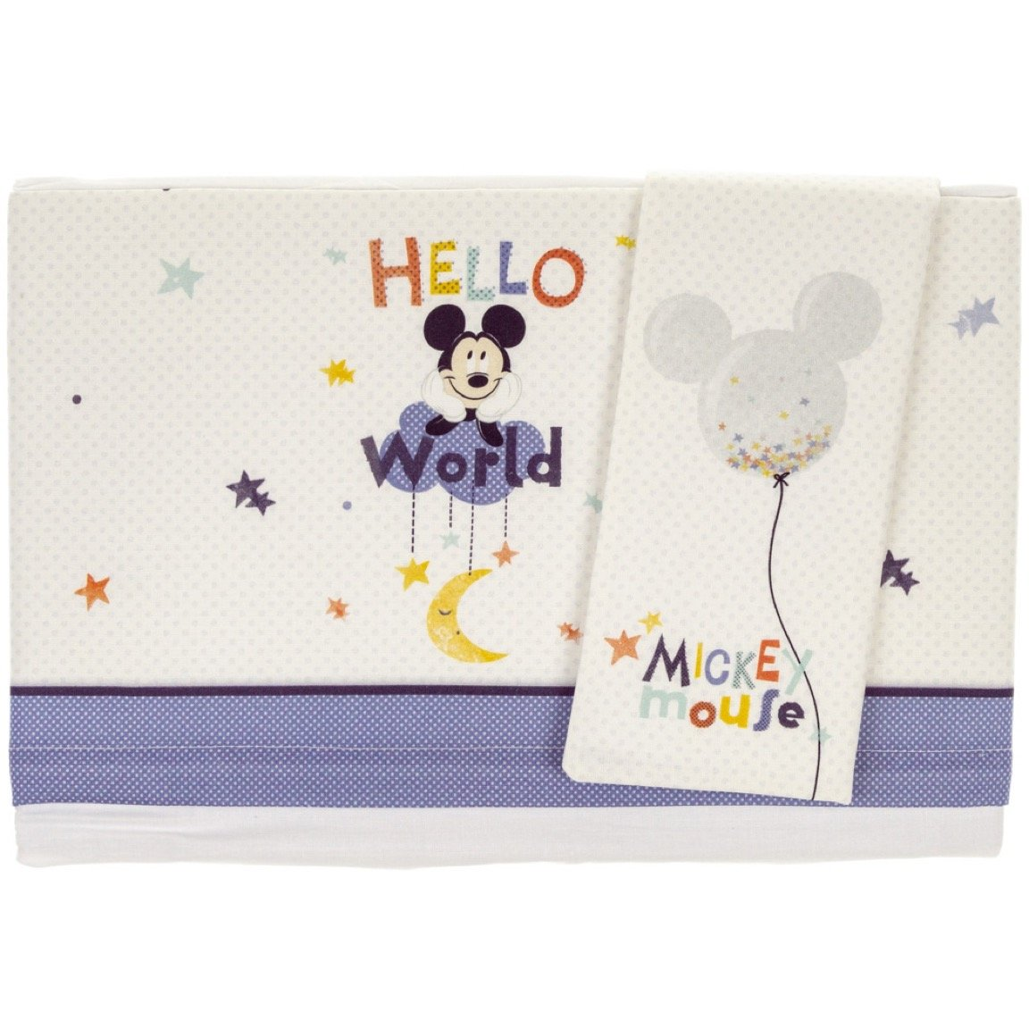 Disney σεντόνια σετ τριών τεμαχίων για παιδικό κρεβάτι (κούνια) «Mickey Mouse»