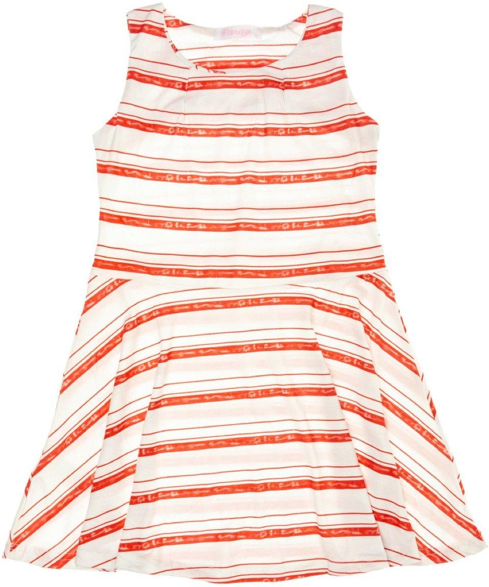 Vanity Chic παιδικό φόρεμα «Red Lines»
