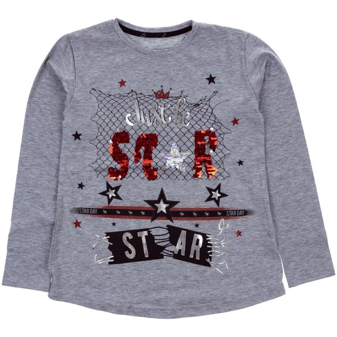 ARS παιδική εποχιακή μπλούζα «Grey Star Day»