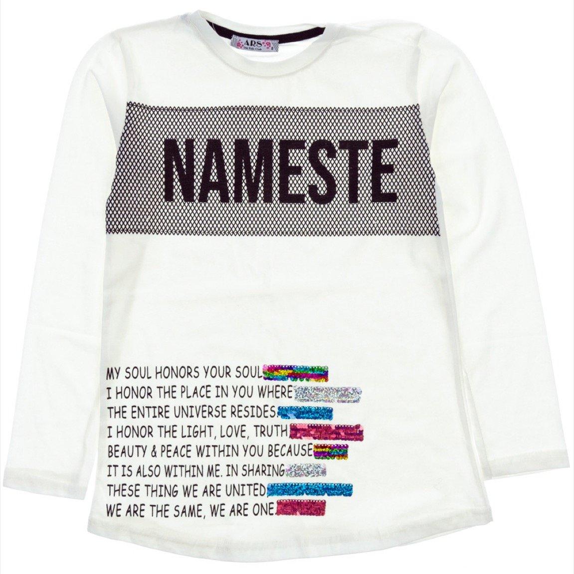 ARS παιδική εποχιακή μπλούζα «Ecru Nameste»