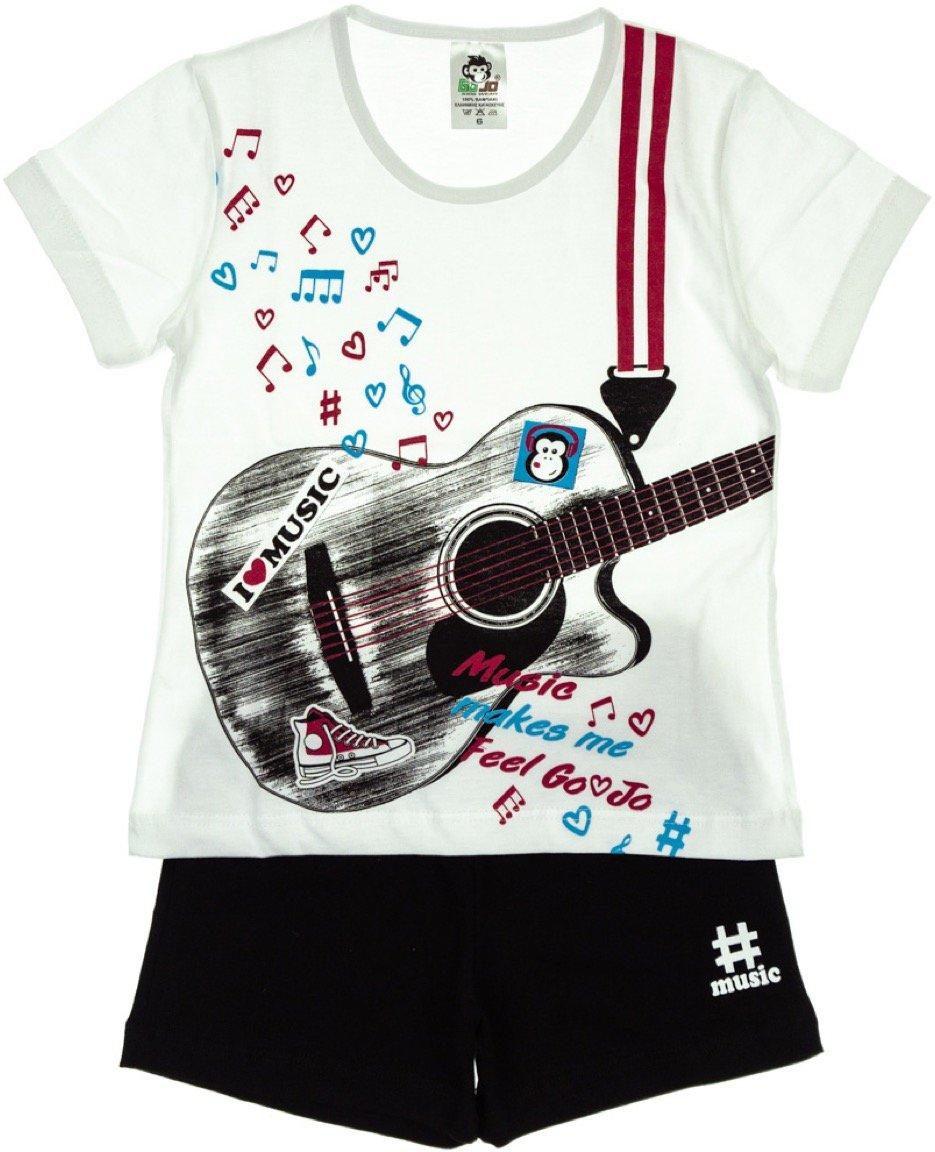 Go Jo παιδικό σετ μπλούζα-παντελόνι σορτς «Music»