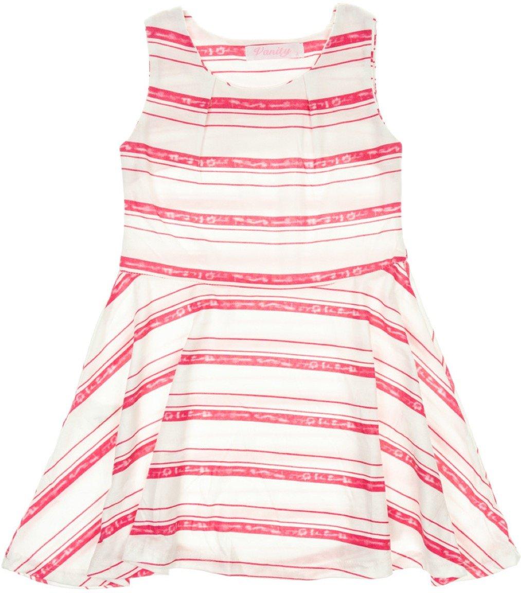 Vanity Chic παιδικό φόρεμα «Pink Lines»