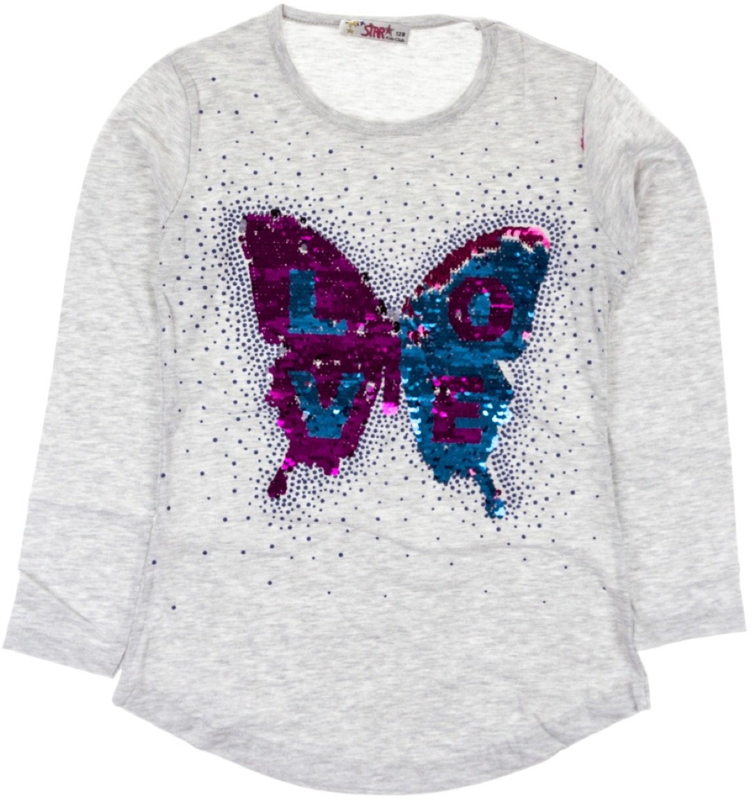Mix Star παιδική εποχιακή μπλούζα «Butterfly's Love»