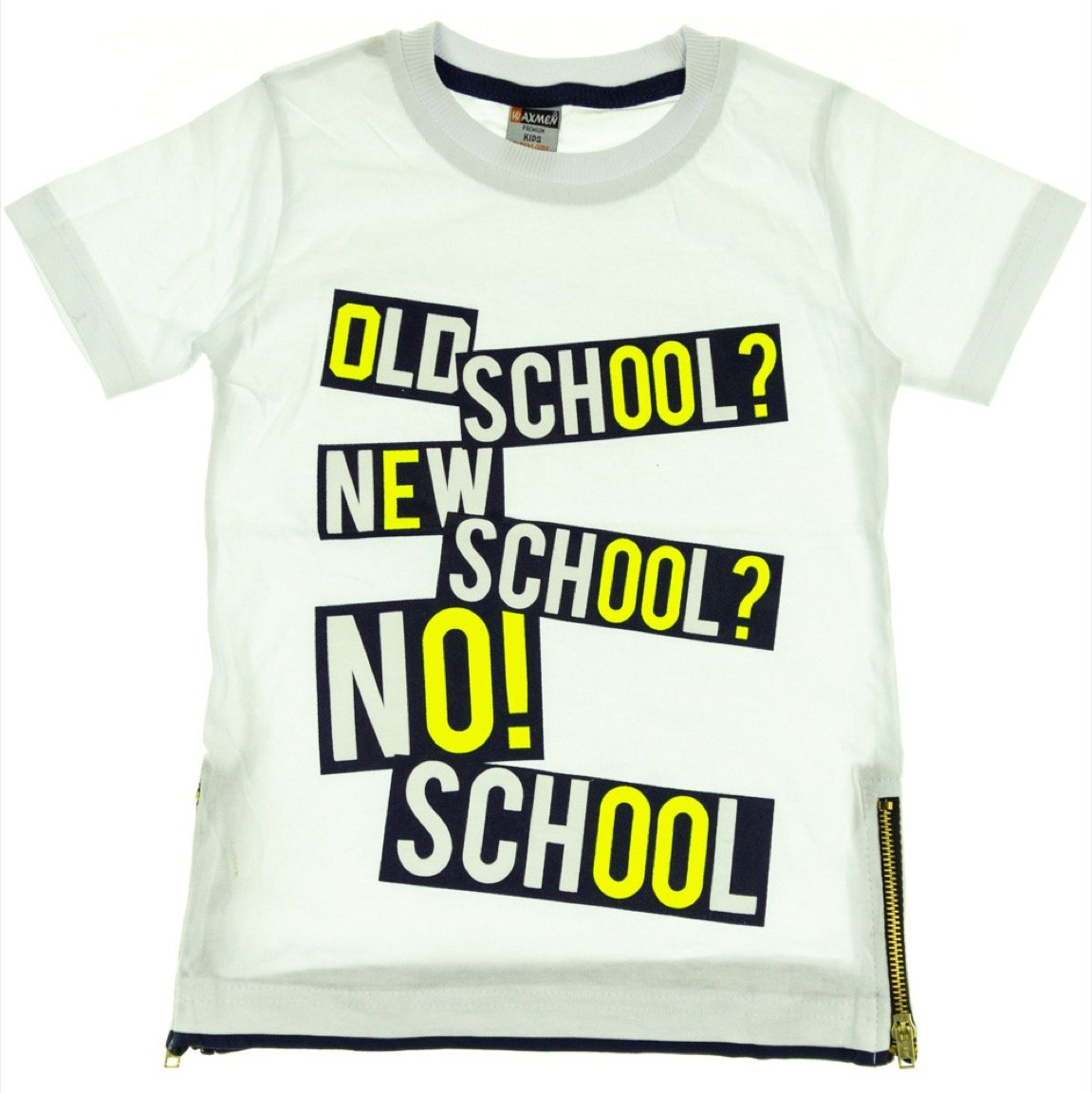 Waxmen παιδική μπλούζα «White No School»