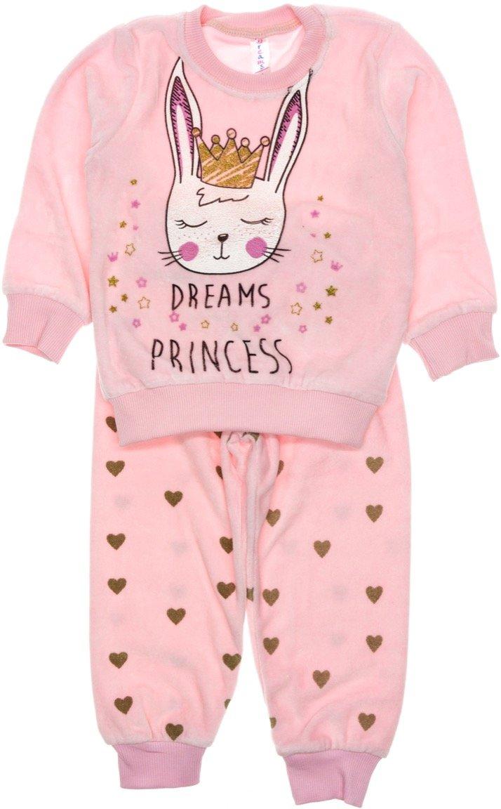 Dreams βελουτέ παιδική πιτζάμα «Princess»