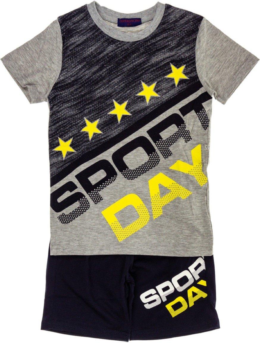 Peperoncino παιδικό σετ μπλούζα (στενή γραμμή)-βερμούδα «A Sport Day»