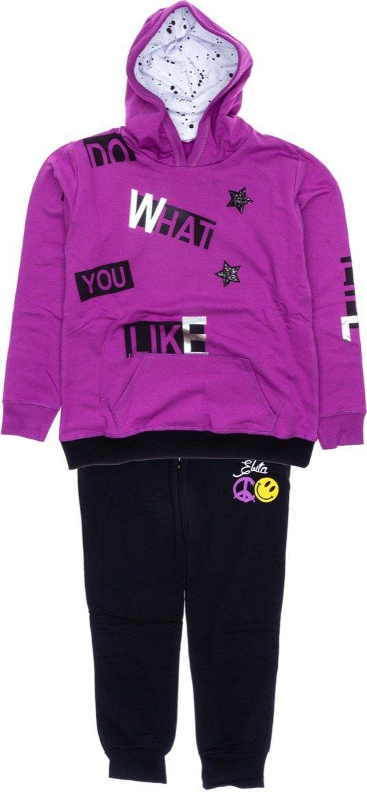 Εβίτα παιδικό σετ φόρμα μπλούζα-παντελόνι «What You Like»