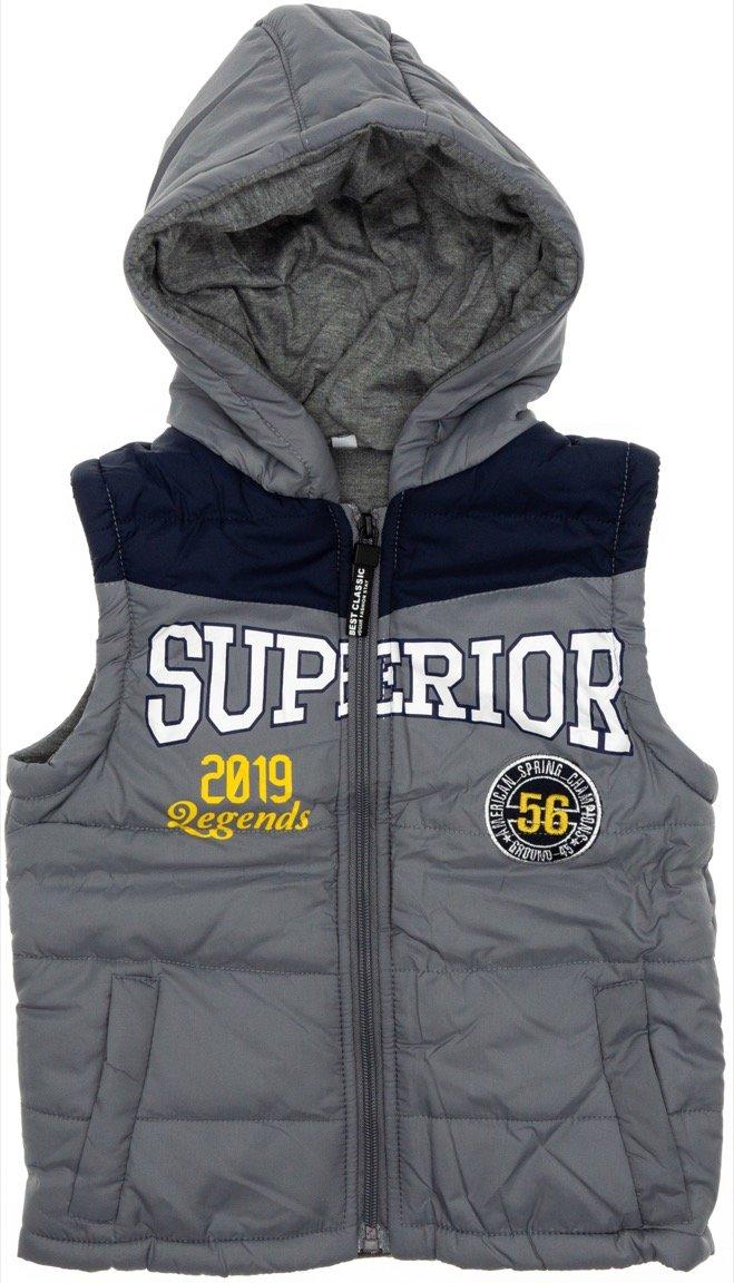 AΖ παιδικό αμάνικο μπουφάν «Grey Superior»