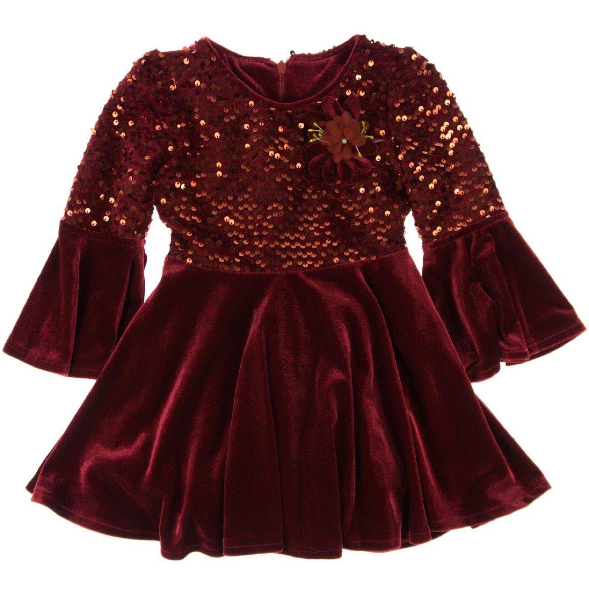 Obella παιδικό αμπιγιέ φόρεμα «Red Velvet & Ribbon»
