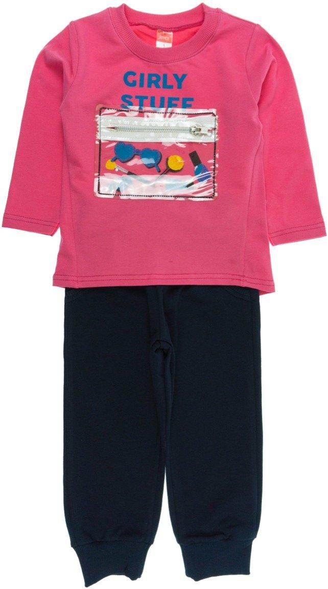 "Joyce παιδικό εποχιακό σετ φόρμα μπλούζα-παντελόνι ""Girly Stuff"""