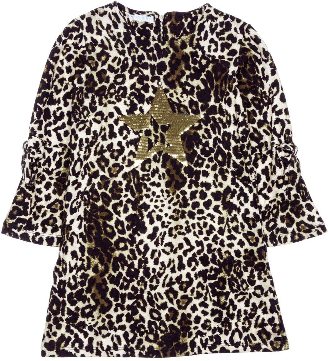 Εβίτα παιδικό αμπιγιέ φόρεμα «Leopard Stars»