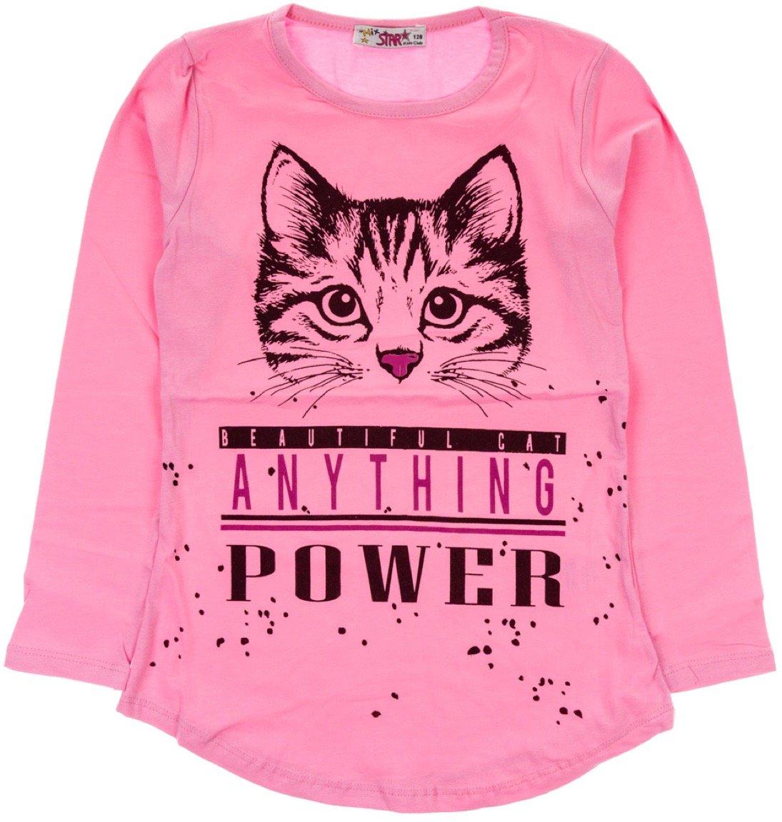 Mix Star παιδική εποχιακή μπλούζα «Cat's Pink Power»