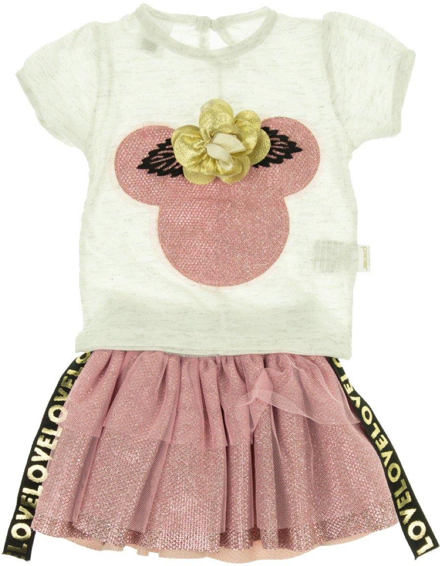 Jikko βρεφικό σετ μπλούζα-φούστα «Hello Mouse»