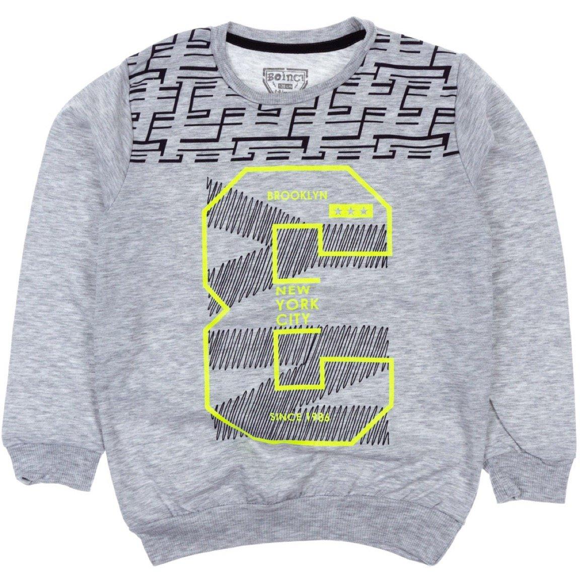 Boinc παιδική εποχιακή μπλούζα φούτερ «Grey Brooklyn»