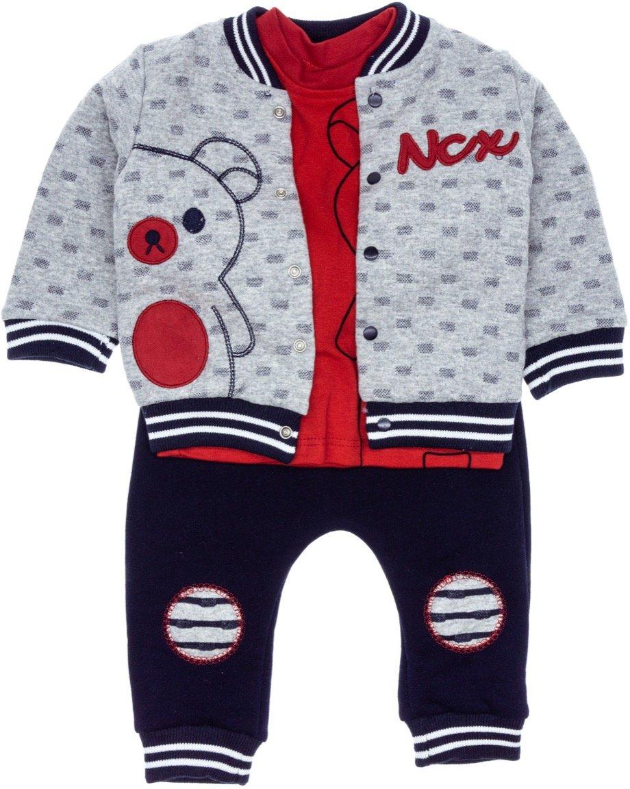 Necix's βρεφικό σετ ζακέτα-μπλούζα-παντελόνι «NCX»