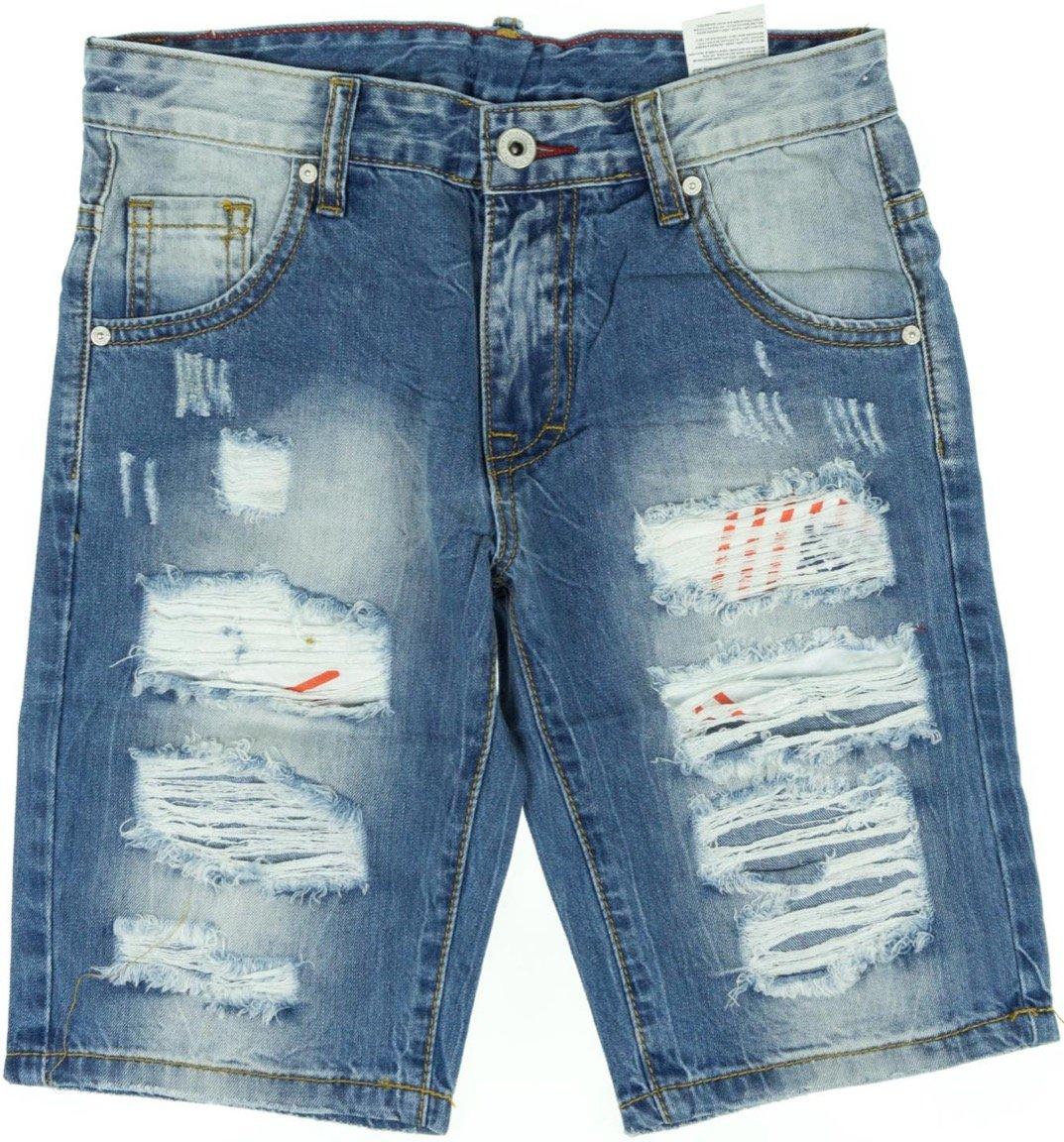 "Boy Studio παιδικό παντελόνι βερμούδα τζιν ""Teared"""