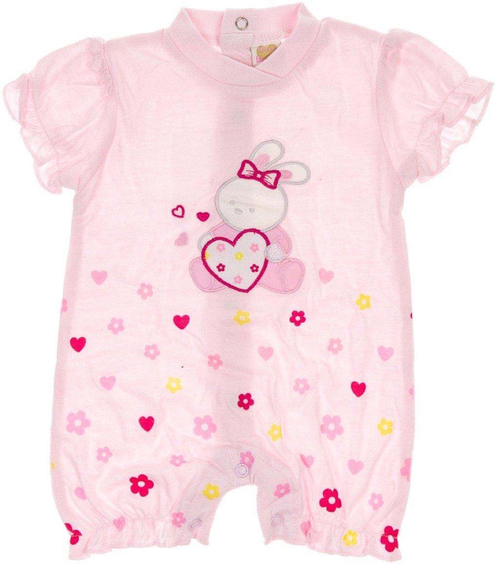 Miss Bellina βρεφικό φορμάκι «Pink Baby Rabbit»