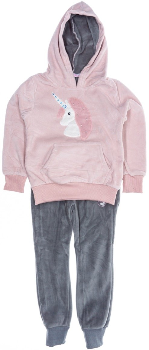 Lady Moda παιδικό βελουτέ σετ φόρμα μπλούζα-παντελόνι «The Unicorn»