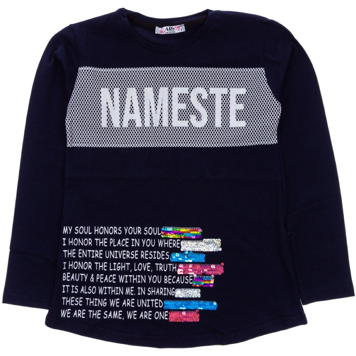 ARS παιδική εποχιακή μπλούζα «Blue Nameste»