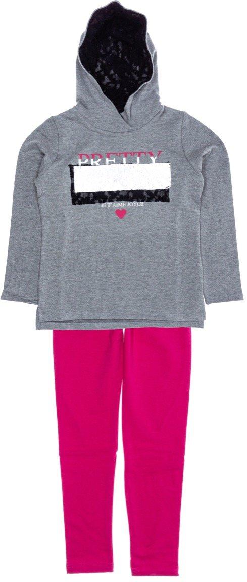 Joyce παιδικό σετ μπλούζα-παντελόνι κολάν «Je T'Aime»