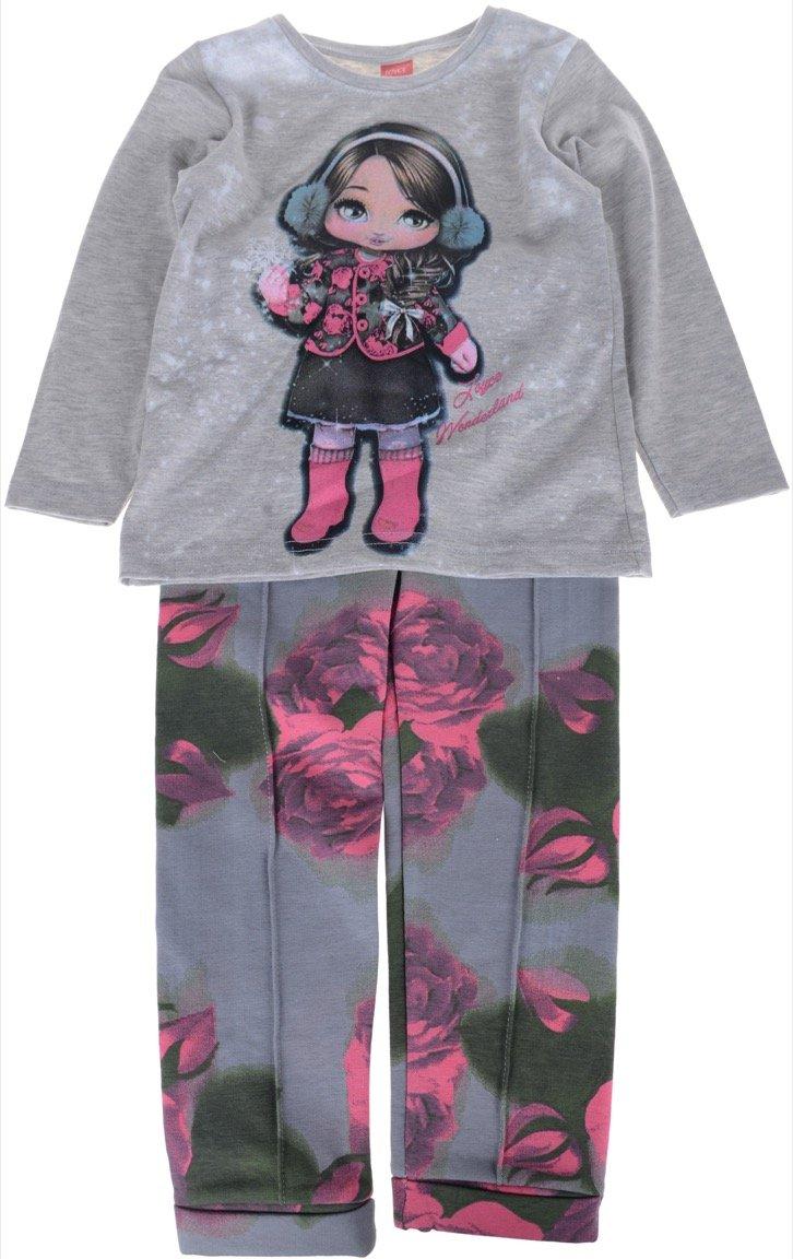 Joyce παιδικό εποχιακό σετ μπλούζα-παντελόνι κολάν «Snowing»